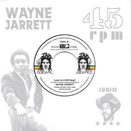 Wayne Jarrett - Love In A Mi Heart / Roots Radics - Blood On His Lips (Jah Guidance) 7""